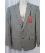 Alfani Mens Blazer Sz 44 L Black White Slim Fit Suit Separates Jacket Bu... - $98.99