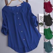 Convertible Sleeve Button Up Shirt - $12.92