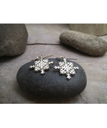 """Snowflake Earrings - Sterling Silver """"French Wires"""" -  Item: S2 - $74.00"""