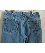 Carhartt Mens Fleeced Lined Light Blue Heavy Jeans 32 X 29 USA - $29.99