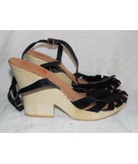 Michael Kors SUEDE Black Heels 9.5M For Women Used - $34.64