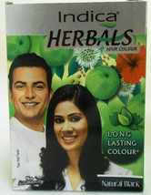 Indica HERBALS 40gm Hair Colour Color Henna Natural Black 8x5gram Sachets USA - $10.00