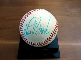 LOU BROCK CARDINALS CUBS HOF SIGNED AUTO VINTAGE ERA GAME USED ONL BASEB... - $148.49
