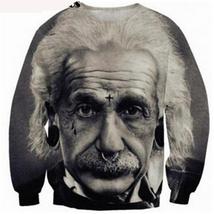Fashion women/men pullover Einstein print 3d sweatshirt Hoodies long sleeve - $29.90