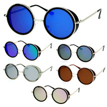SA106 Side Visor Hippie Round Circle Lens Sunglasses - $9.95
