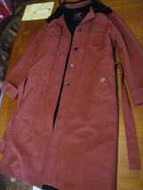 London Fog burgundy plush lined women's trench coat 14 REG used clean w/... - $24.63
