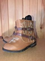 Infant/Baby Girls Brown Western BOOTS Size 5~GARANIMALS~Nice Stitching B... - £10.40 GBP