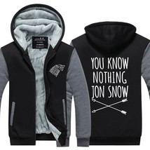 Winter New Hoodies men You Know Nothing Jon Snow Tops Games of Thrones jacket Ca - $61.20