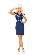 Sexy Roma 2pc Classy Sailor Military Girl Fancy Dress Halloween Costume ... - $60.00