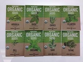 Organic, Heirloom, Non-GMO, Herb Garden Seeds ? 8 Variety Kitchen Herbal - - $21.37