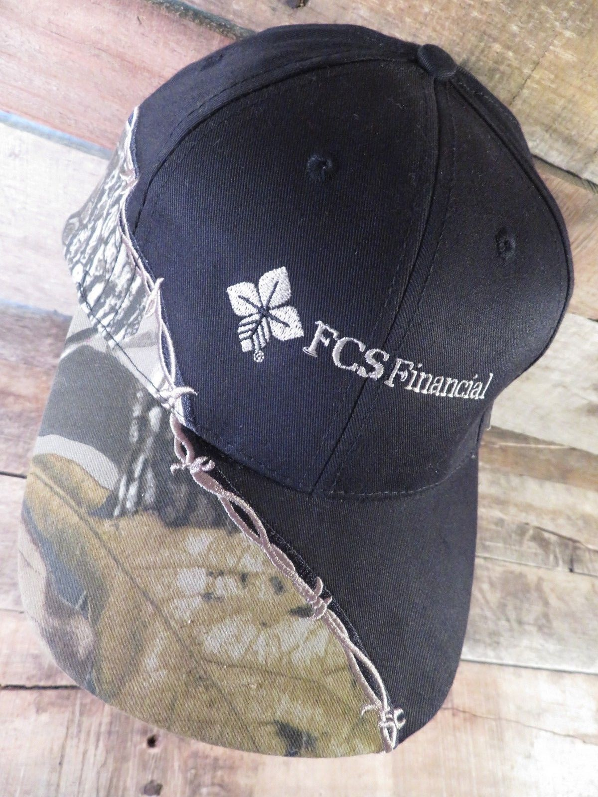FCS Financial Realtree Camouflage Barbed Wire Adjustable Adult Cap Hat