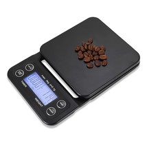 Digital Kitchen Food Coffee Weighing Scale + Timer(BLACK) - $23.02