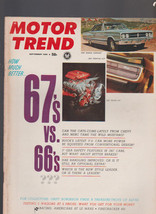 Motor Trend Magazine September 1966 1967 Cars Buick Chevy Alfa Le Mans - $11.41