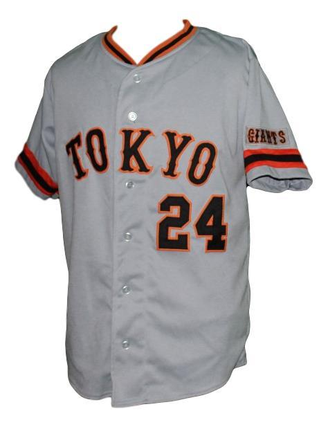 Yoshinobu Takahashi #24 Giants Tokyo Button Down Baseball Jersey Grey Any Size