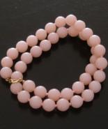 Vintage Trifari Pastel Pink Bead Necklace - $65.00