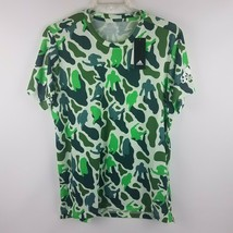 adidas x NERD Pharrell FreeLift Prime Green Camo Tee Climalite DH1176 Si... - $29.95