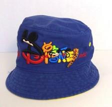 Disney childrens blue cotton rain summer hat embroidered Winnie the Pooh cap - $12.86