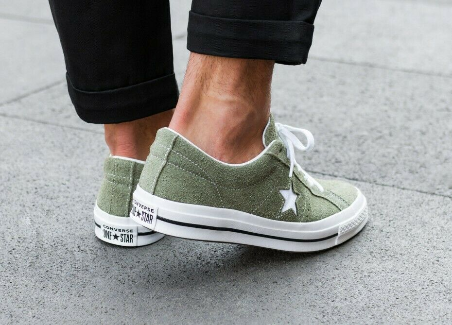 Converse Mens One Star Ox Suede 161576C Field Surplus (Olive) / White Size 9 9.5