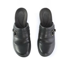 Clarks Collection Black Leather Mules Slip On Comfort Shoes Womens 7 M - $29.57