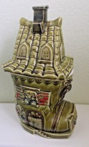 Avocado Green Shoe House Cookie Jar Old Woman Who Lived in a Shoe Nurser... - $42.74