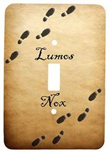 Single Toggle Metal Light Switch Cover with Lumos Nox Footprint Design - $11.83