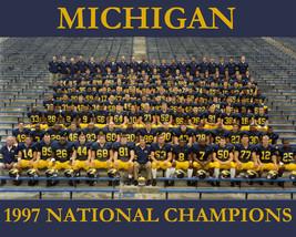 1997 Michigan 8X10 Team Photo Wolverines Ncaa Football National Champs - $3.95