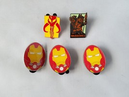 Disney Official Trading Pins Movie Theme Iron Man Lot of 5 Collectible - $12.01
