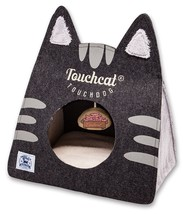 Touchcat 'Kitty Ears' Travel Collapsible Folding Cat Pet Bed House With Toy - $30.54