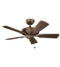 Kichler 310144WCP Kelar Ceiling Fans 42in Weathered Copper Powder Coat Aluminum - $289.00