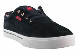 Etnies Mens Black/Tan/Red Suede Leather Jameson 2 Low Top Skateboarding Shoes NW