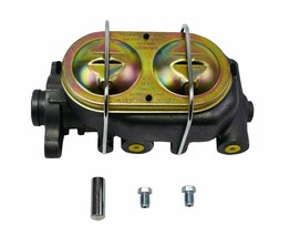 """Cast Iron Brake Master Cylinder 1"""" Bore 4 3/8""""  Port Dual Bail Cap for GM Chevy"""