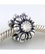 Authentic Pandora Birthday Blooms April Quartz Sterling Silver Bead 7905... - $54.14
