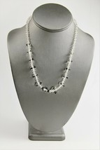 "18"" ESTATE VINTAGE Jewelry ART DECO ERA FANCY GLASS BEAD NECKLACE STERLI... - $65.00"