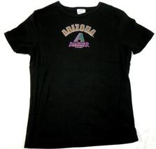 Large Junior Women's Arizona Diamondbacks Shirt MLB Baseball Tee D'Backs