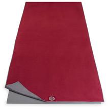 New Mat Towel Fast Drying Hot Yoga Pilates Banyan & Bo Dark Red Gray Abs... - $22.50