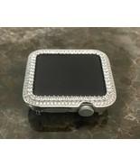 Serie 2/3 Bling Apple Reloj Princesa Zirconia Silver Cara Bisel Funda 38mm - $56.14