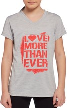 New with Tags Reebok Girls Extra Small XS V-Neck Love More Than Ever Tee - $9.99