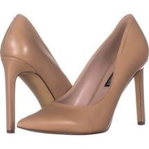 Nine West Tatiana Pointed Toe Dress Pumps 283, Natural Leather, 7 US - £23.42 GBP