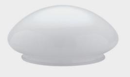 "Westinghouse LAMP SHADE Mushroom White Glass Low-Profile 1 pk 3.75"" H 85... - $22.25"