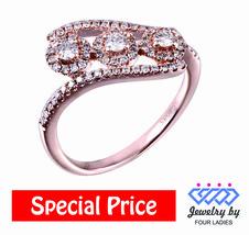 Solid 14K Rose Gold Real Natural 0.5CT natural Diamond Fashion Ring Fine... - $591.71