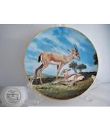The Slender Horned Gazelle Endangered Species Porcelain Plate - $19.89