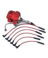 AMC JEEP INLINE 6 CYLINDER 232 258 HEI DISTRIBUTOR RED SPARK PLUG WIRES ... - $99.99