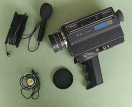 Vintage Bell & Howell 8 mm  Filmosonic XL Model 1235 Movie Camera W/Case... - $32.42