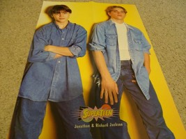 Jonathan Jackson Will Friedle teen magazine poster clipping sitting down... - $4.00