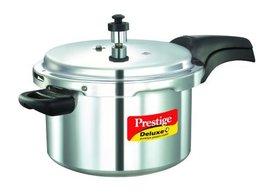 Prestige Deluxe Plus Aluminum Pressure Cooker, 5 Liter - $103.00