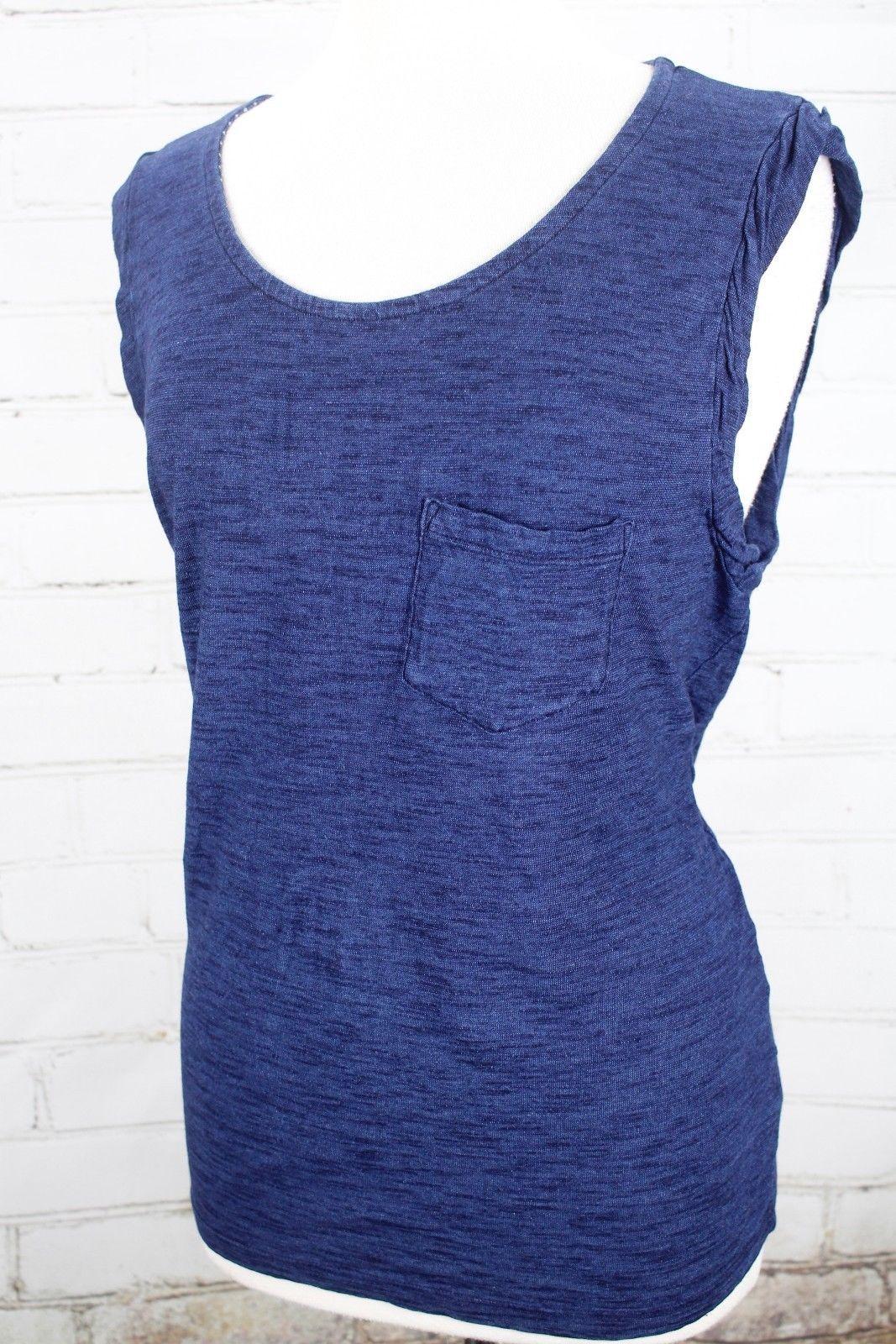 Splendid Woman Lace-up Slub Cotton And Modal-blend Dress Navy Size XS Splendid Professional yEodVyo
