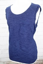 Splendid Indigo Knit Muscle Tank Top Women's Size XL Blue Cotton Sleevel... - $25.74