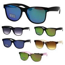 Boys Hipster Panel Lens Horn Rim Retro Fashion Sunglasses - $9.95