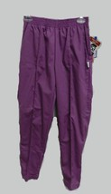 Scrub Pants XS Petite Purple Crest Grape Jelly Uniform Single Pleated 19... - $19.37