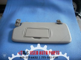2014 FORD FIESTA RIGHT GRAY PASSENGER SUN VISOR WITH MIRROR image 2